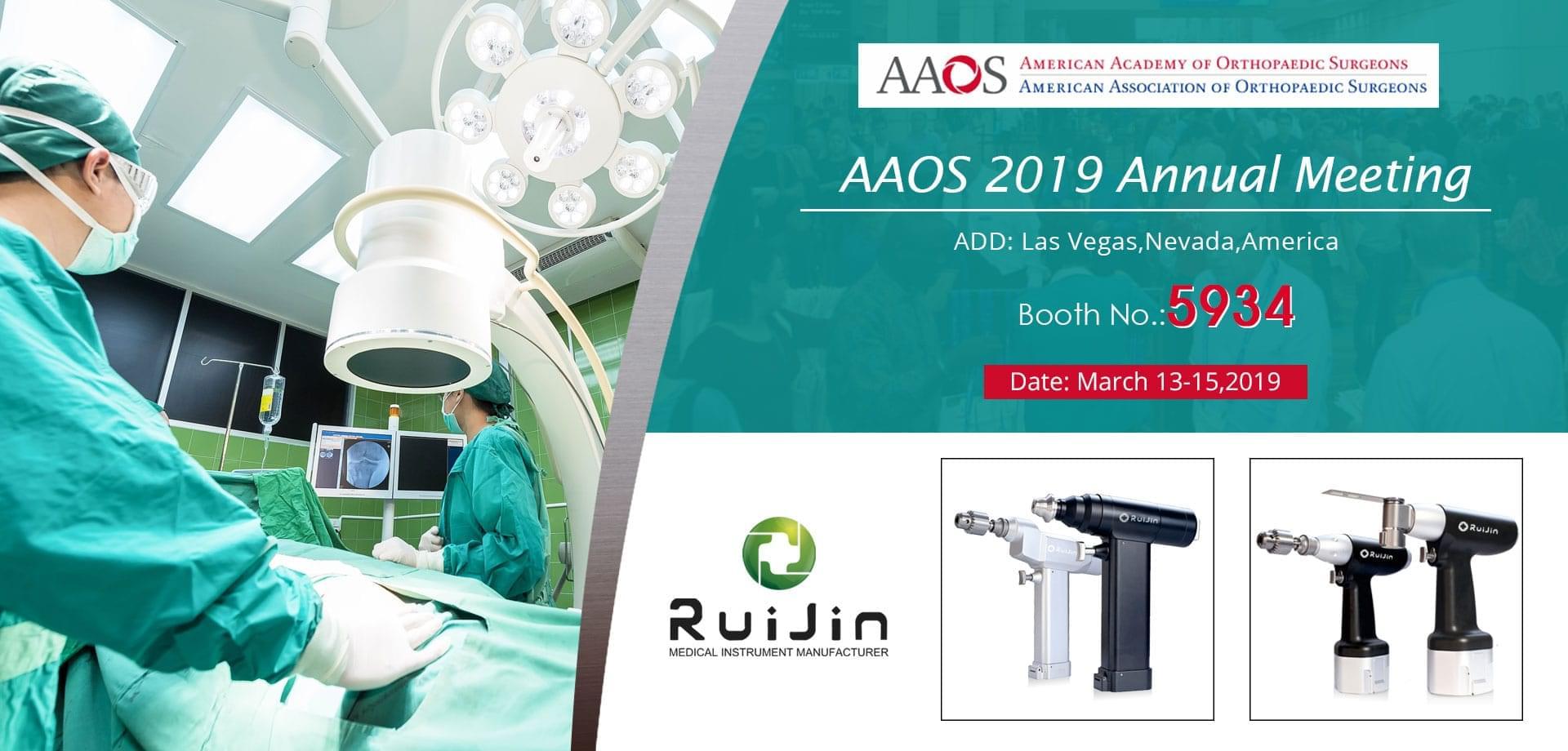 Visit Us at AAOS 2019 Annual Meeting-M